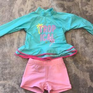 Kids Swim Suit Long Sleeve Tropical